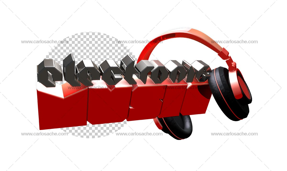 Electronic Music Texto 3D 3