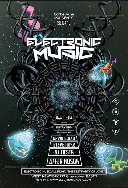 Plantilla de Musica Electronica 1
