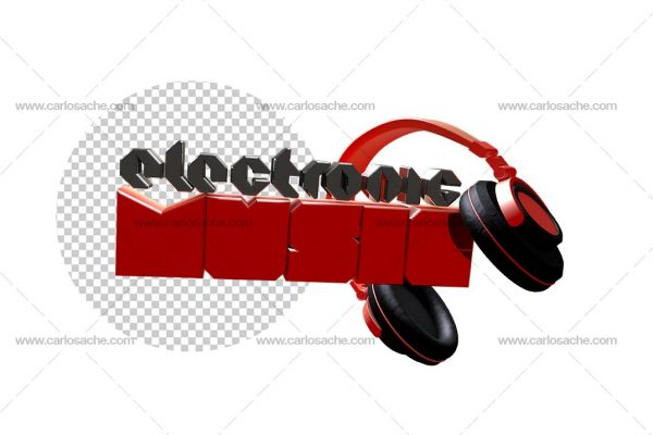 Electronic Music Texto 3D